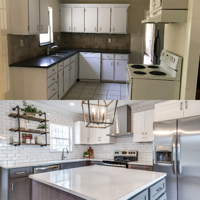 Kitchen before and after JoJo Fletcher