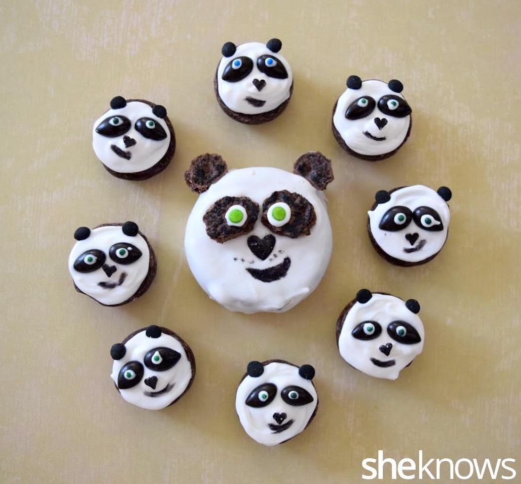 Panda decorated candies