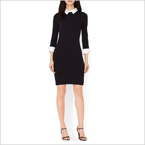 Lauren by Ralph Lauren Collared Color Block Dress
