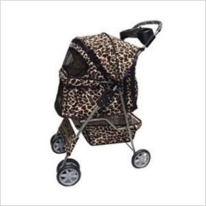 Leopard Dog Stroller