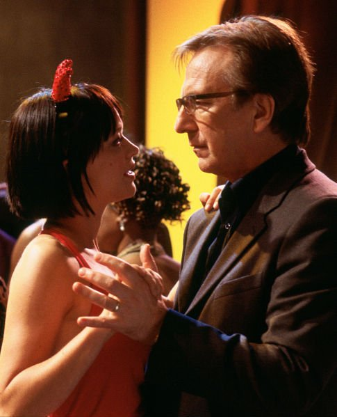 Alan Rickman and Heike Makatsch in Love Actually