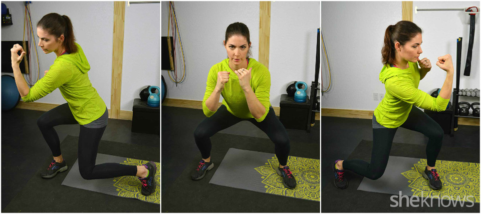Rotational lunge with upper cut