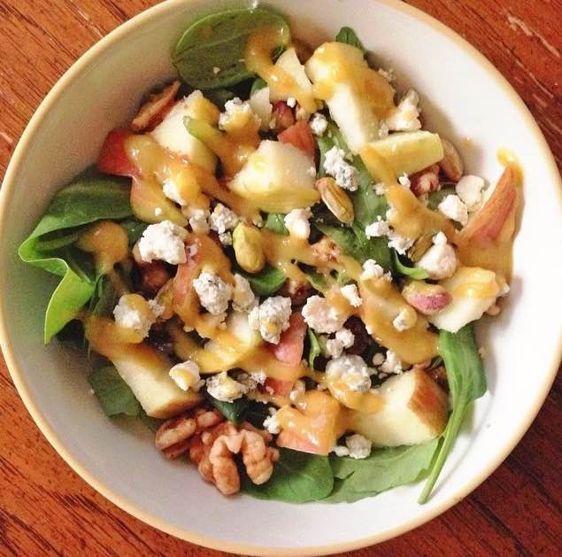 salad with fruit and nuts