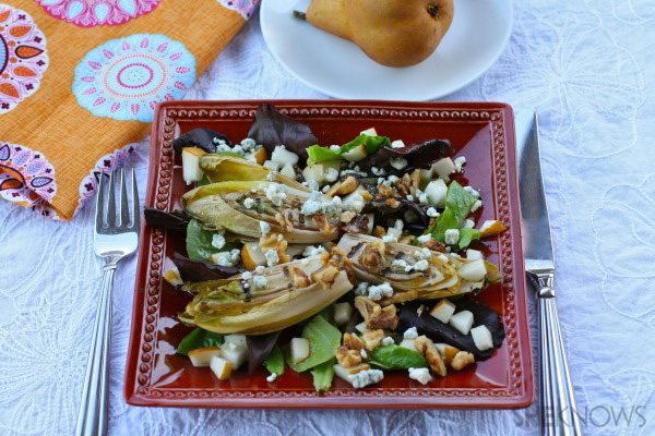 Meatless Monday: Grilled endive and pear salad with honey vinaigrette