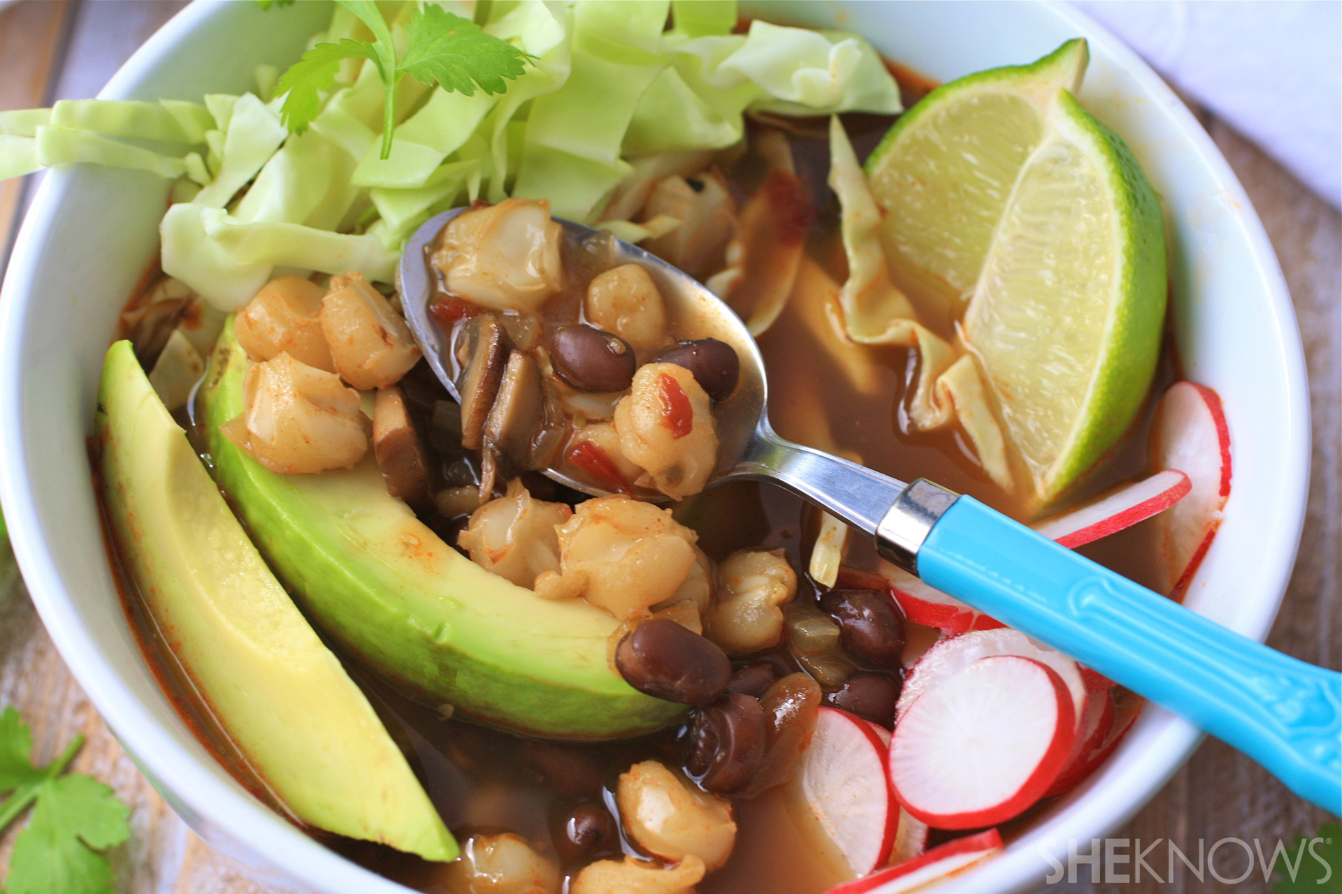 Meatless Monday: Black bean and mushroom posole