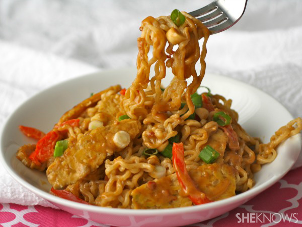 ramen noodles with tempeh
