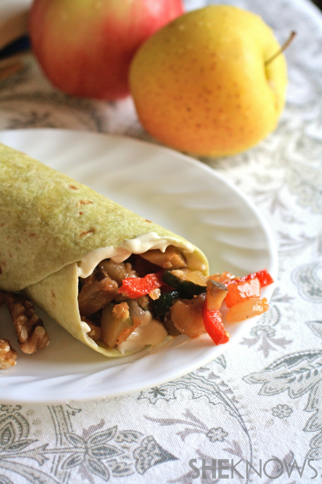 Ratatouille wraps with Brie cheese