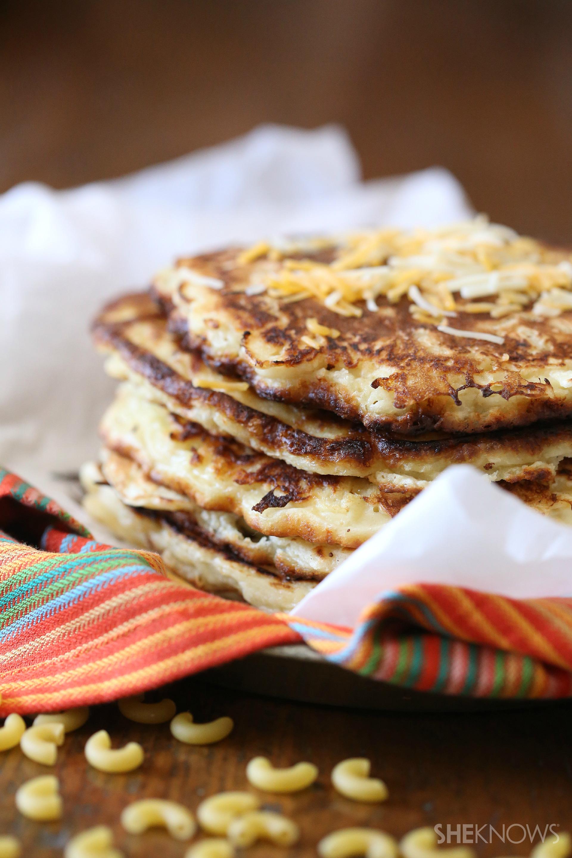 "Macaroni and cheese ""pancakes"""