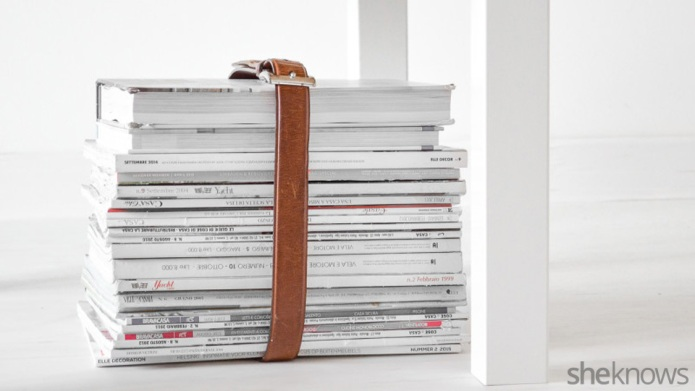 Cut down on magazine clutter with