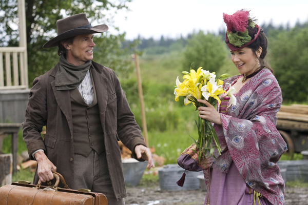 Flowers from a cowboy she doesn't know in Sunday's Mail Order Bride
