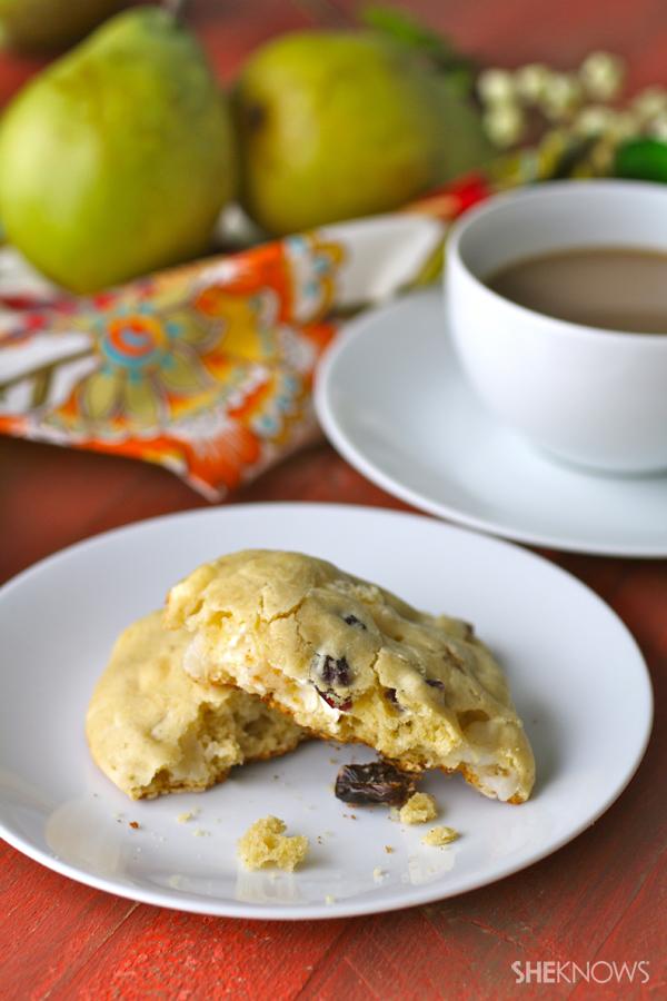 Gluten-free pear, cherry & Brie scones