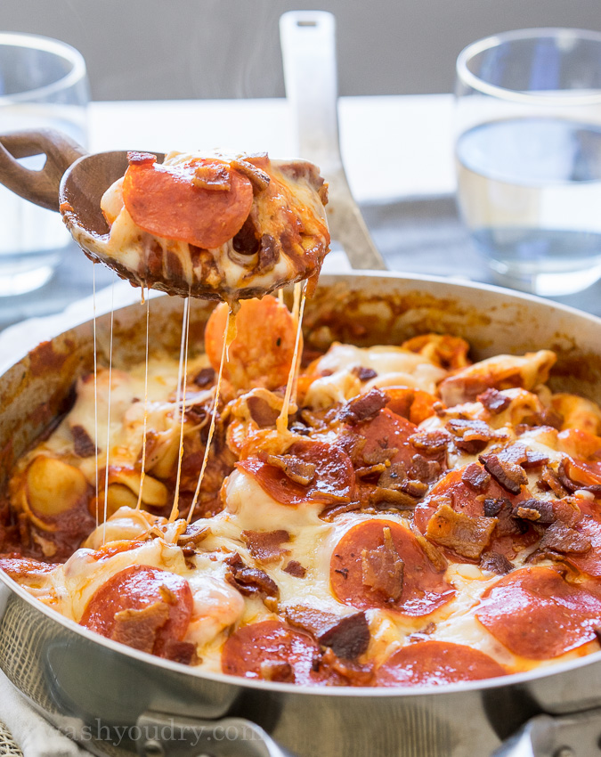 meat tortellini skillet