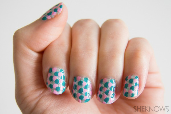 Mermaid scales nail art   SheKnows.com