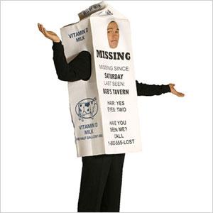 Milk carton costume