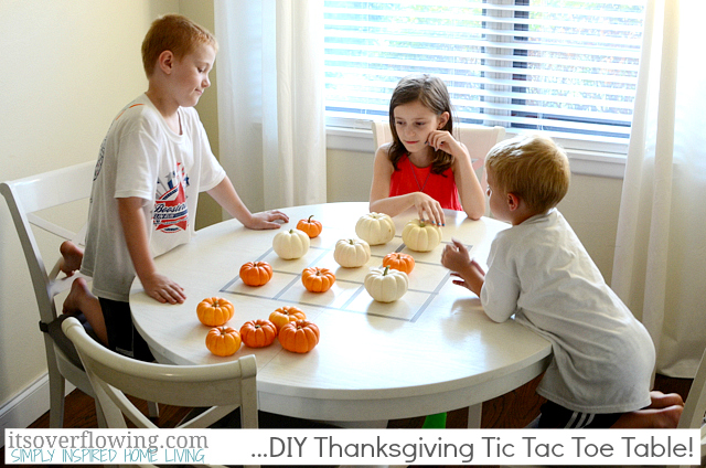 Mini pumpkin tic tac toe | Sheknows.com