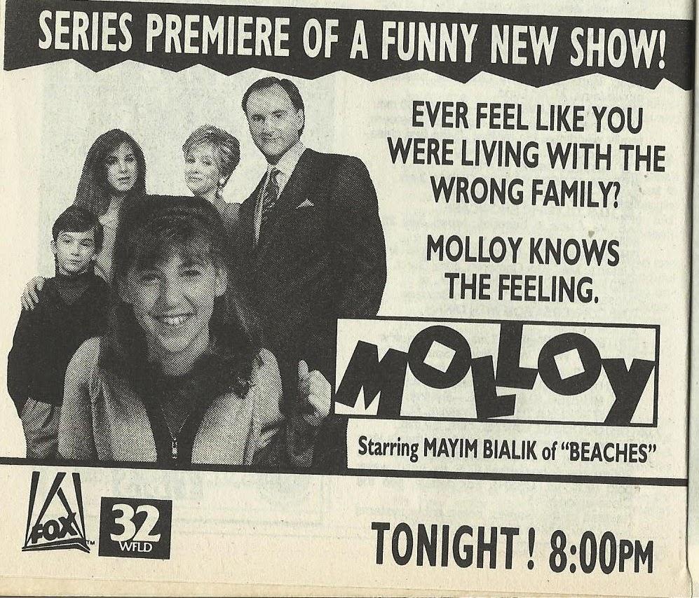Molloy ad in TV Guide