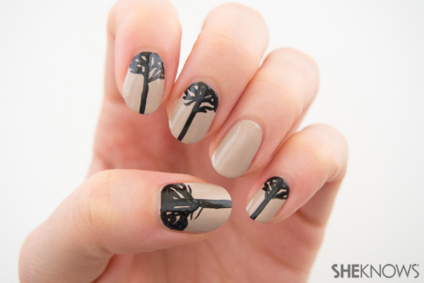 Moon branches nail design | Sheknows.com -- trees