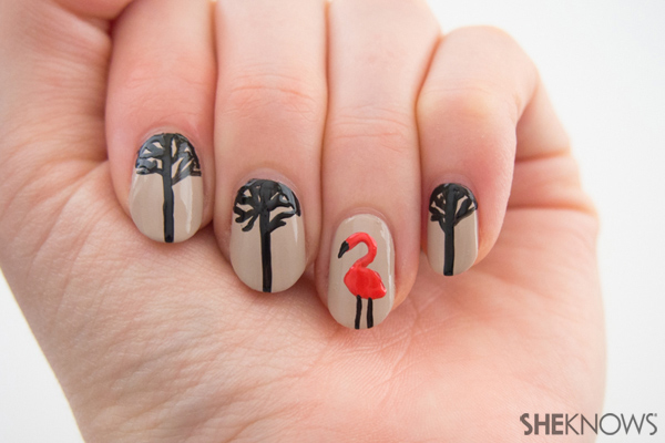 Moon branches nail design | Sheknows.com -- final result