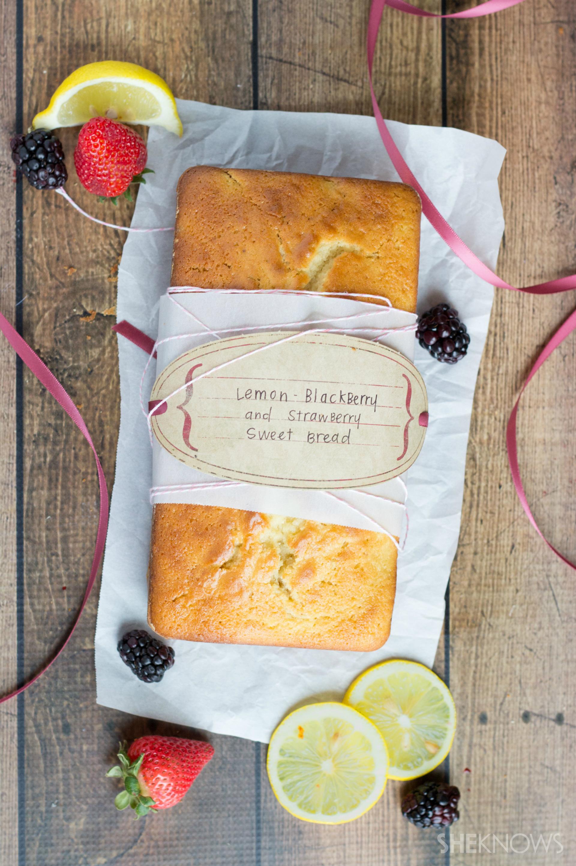 Lemon-Blackberry and Strawberry Sweet Bread