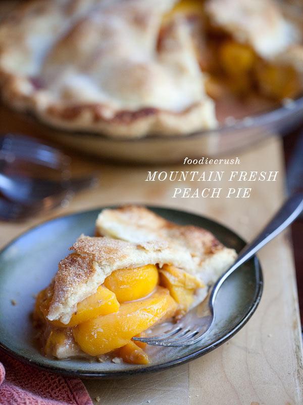 Mountain fresh peach pie