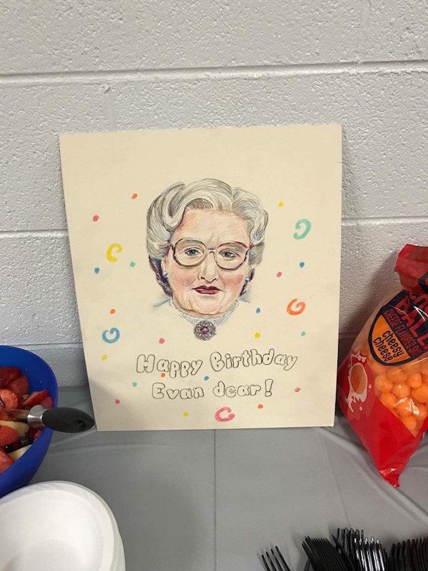 Mrs Doubtfire birthday party