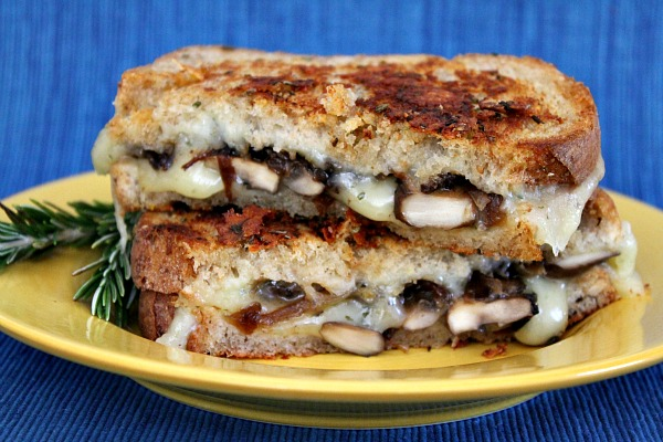 mushroom grilled cheese