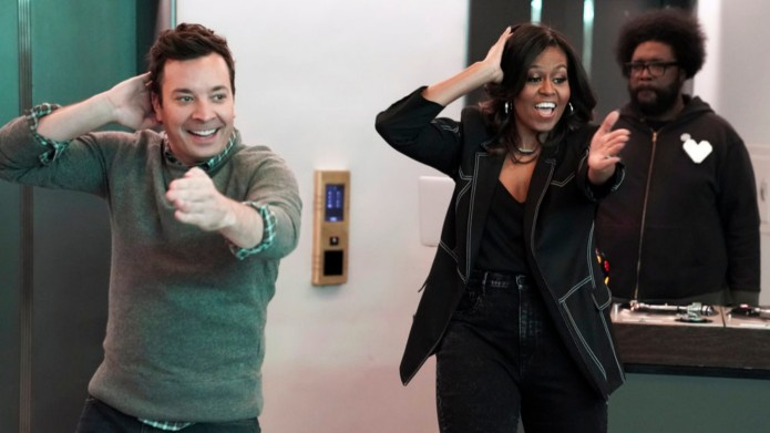 Jimmy Fallon and Michelle Obama on