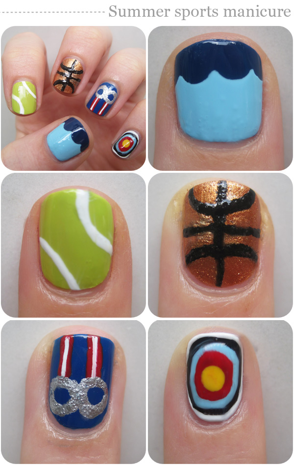 Nail art designs: Summer sports manicure