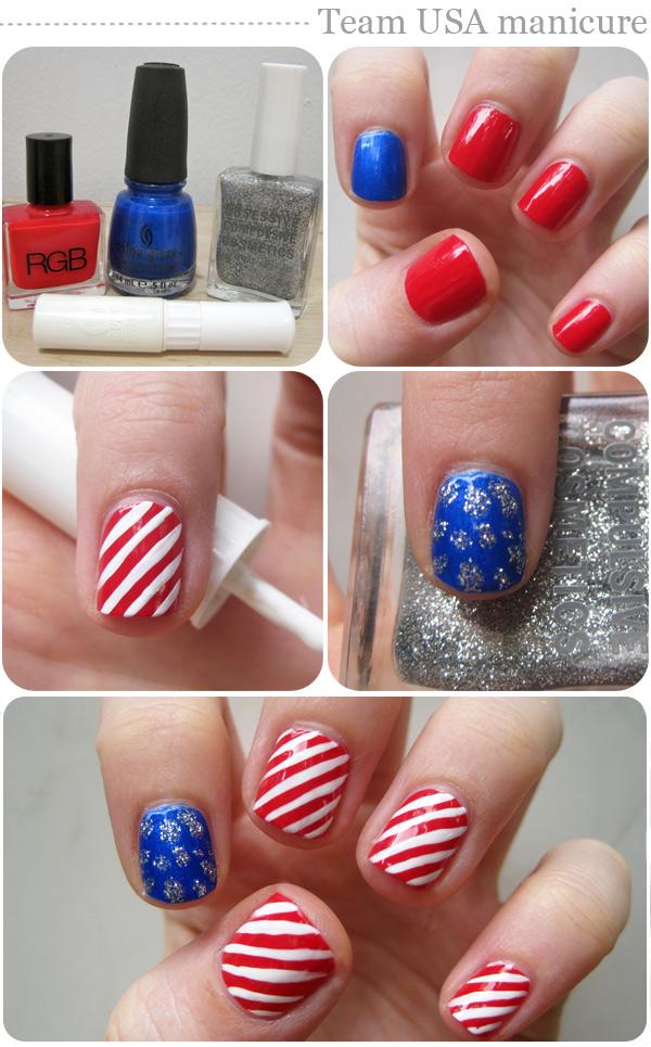 Nail art designs: Team USA manicure
