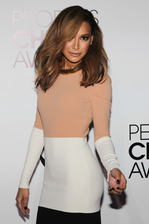 Naya Rivera's High-Low Colorblock Michael Kors Dress