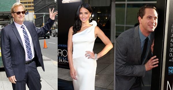 The Newsroom's Jeff Daniels, Olivia Munn, and Thomas Sodoski