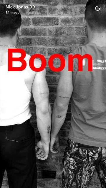 Nick and Joe Jonas show off matching tattoos