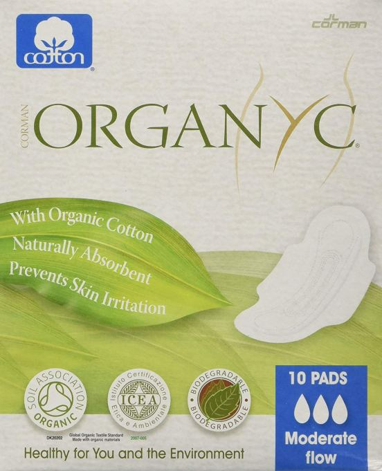 ORGANYC Hypoallergenic 100% Organic Cotton Pads Day Wings