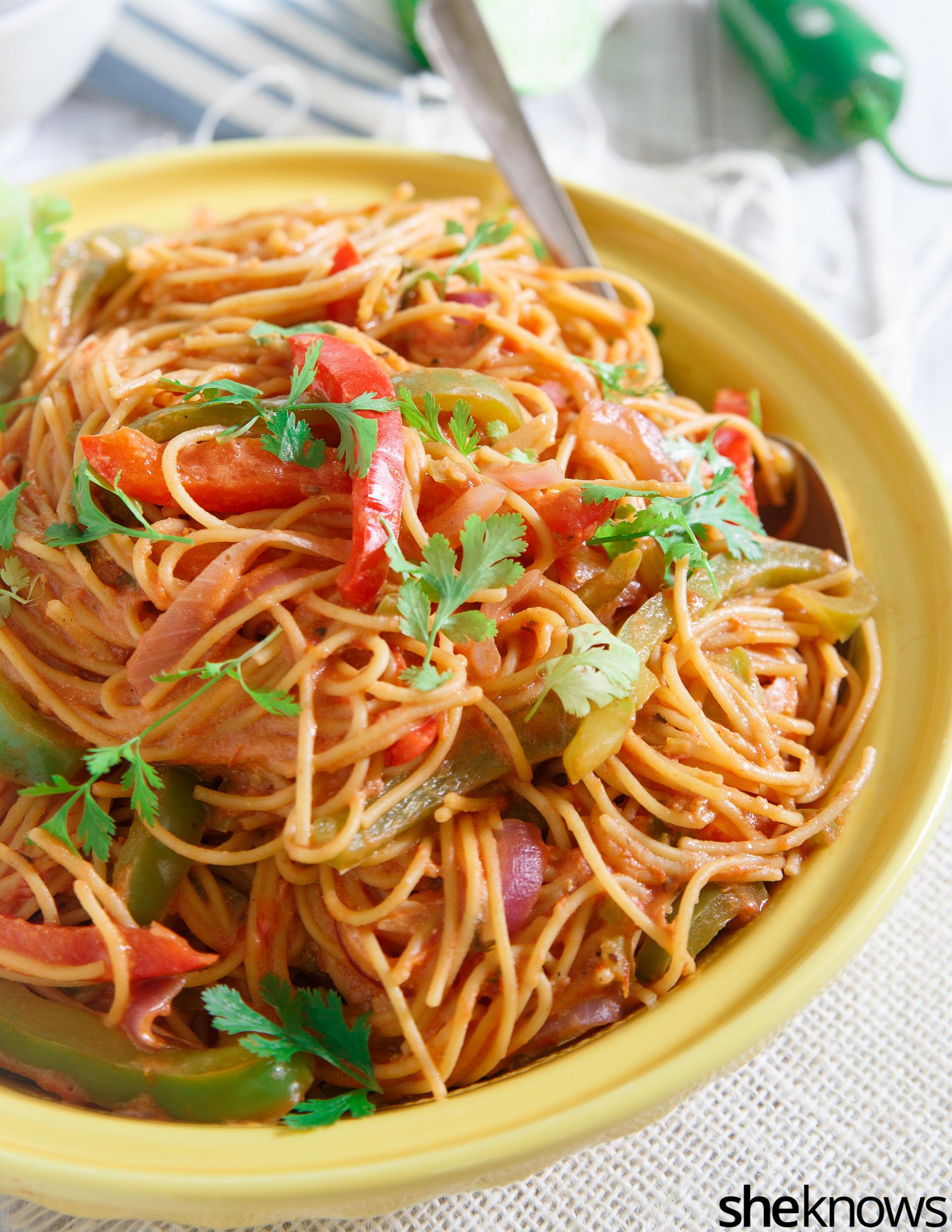 One pot fajita pasta
