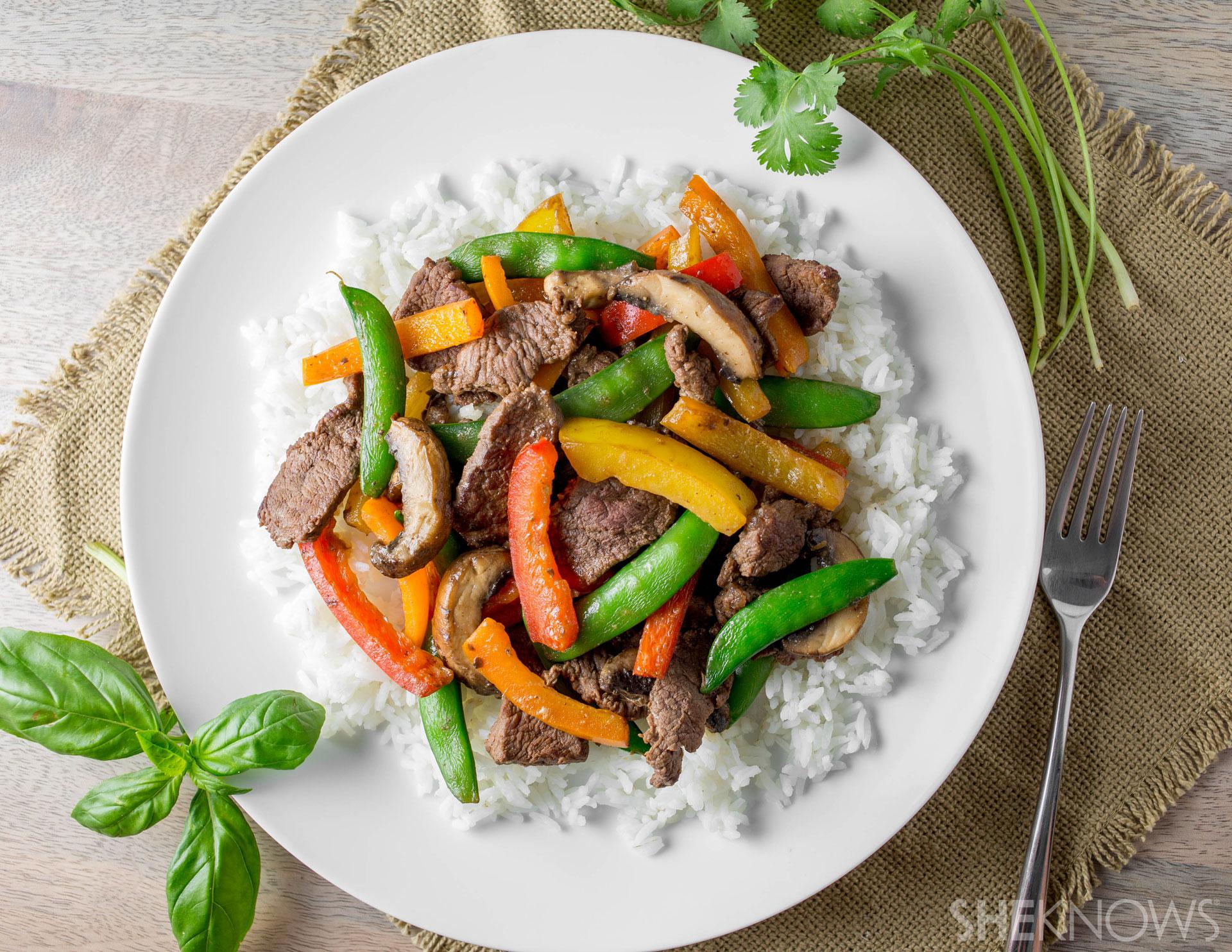 Organic beef and veggie stir fry l SheKnows