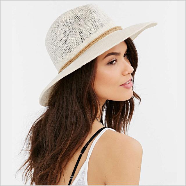 Oversized Nubby Panama Hat