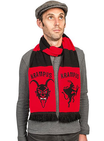 Naughty Krampus Snuggle Scarf from Plasticland