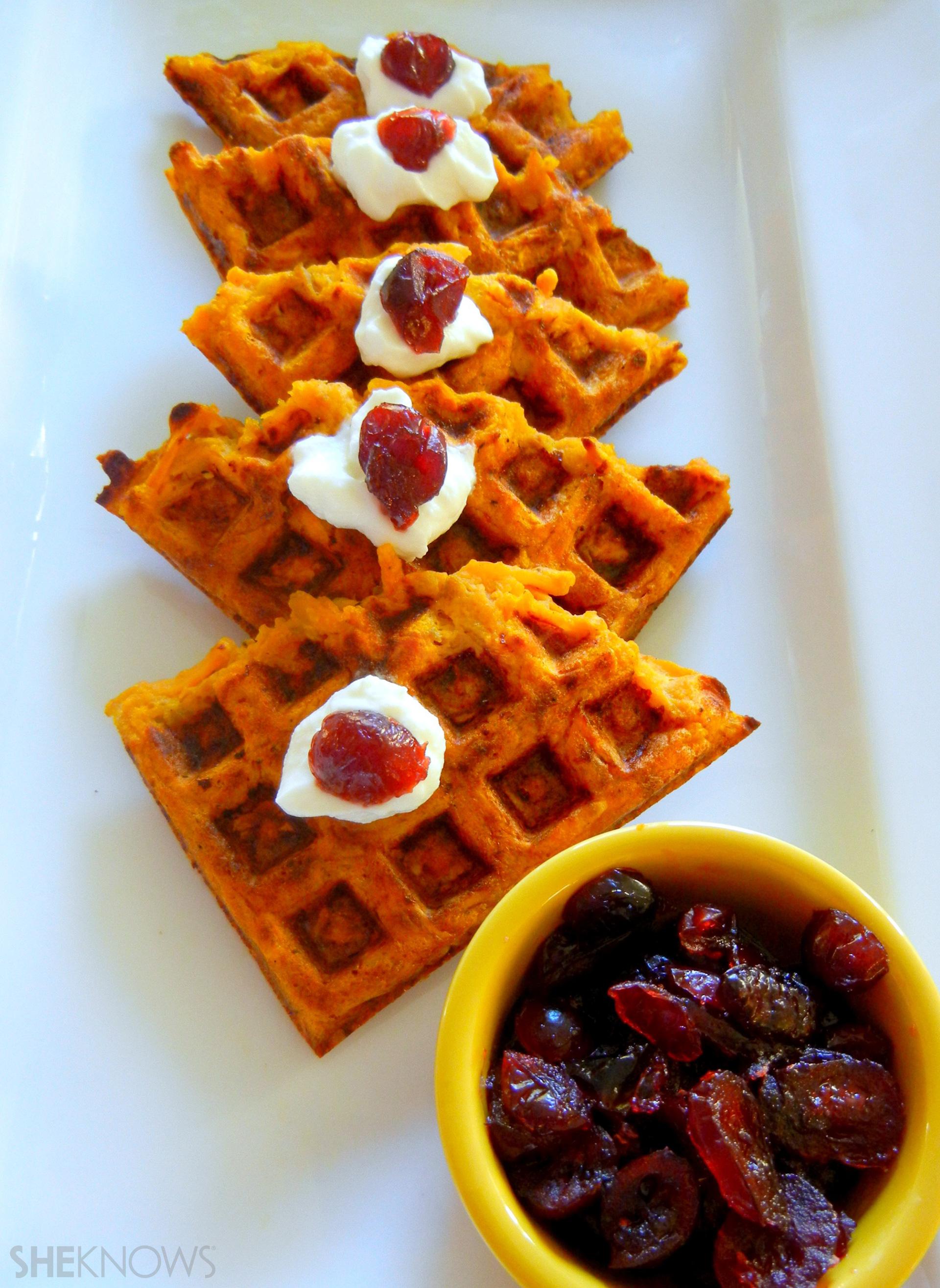 Sweet Potato & Pumpkin Hash Brown Waffles