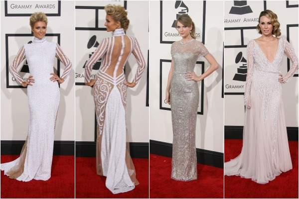 Paris Hilton and glamorous gown at the Grammys