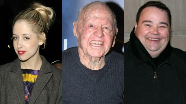 Peaches Geldof, Mickey Rooney, John Pinette