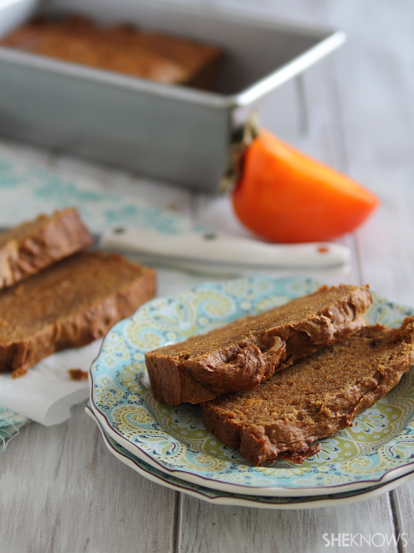 Persimmon gingerbread loaf