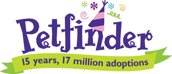 Petfinder 15th birthday logo