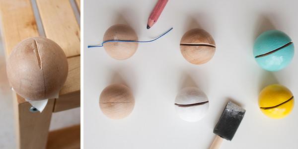 DIY craft tutorial: photo display balls step 1