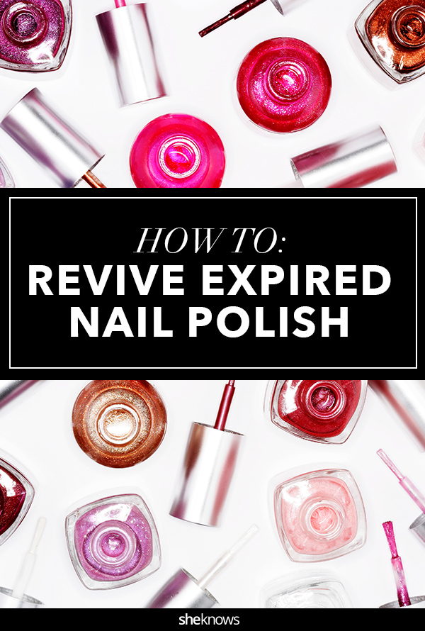 How to revive old nail polish that has thickened