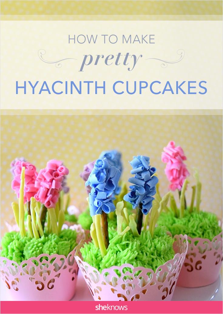 hyacinth cupcakes