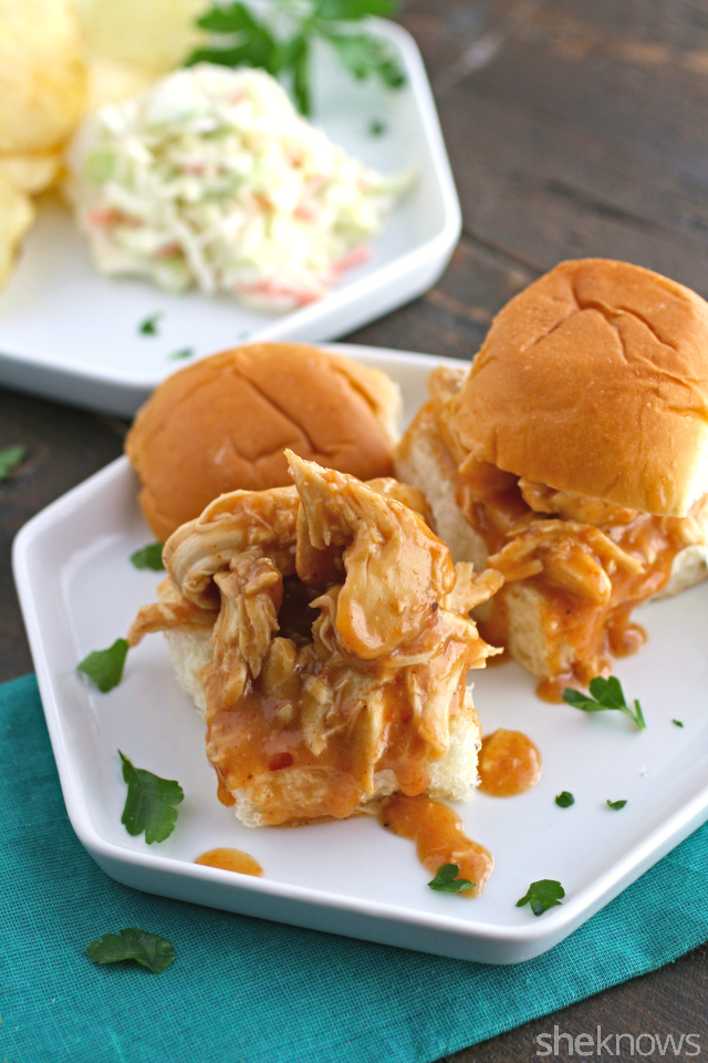 These slow cooker Sunday sliders are easy to make. You'll also love how tasty these sweet-and-spicy bourbon chicken sliders turn out!
