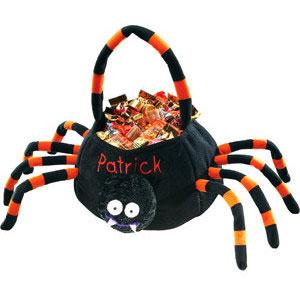 Plush spider bag