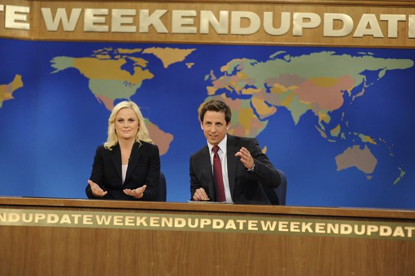 Amy Poehler and Seth Meyers in Weekend Update