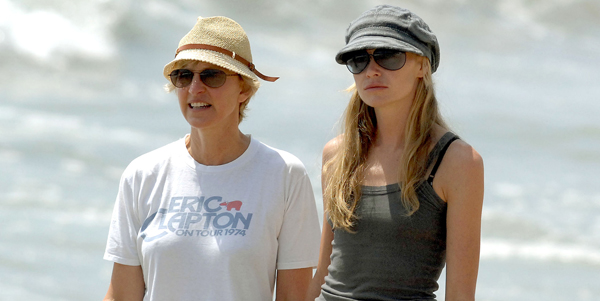 Ellen and Portia on their Honeymoon