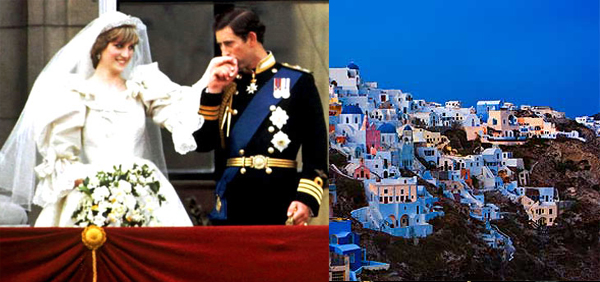 Princess Diana and Prince Charles's royal honeymoon